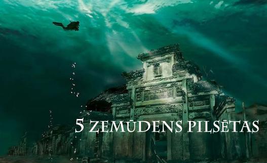 5 zemūdens pilsētas