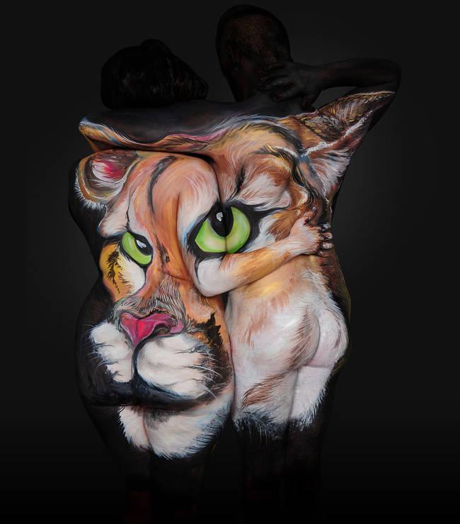 māksla no cilvēkiem - tīģeris