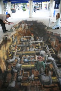 apbrīnojamā 3d māksla caurules