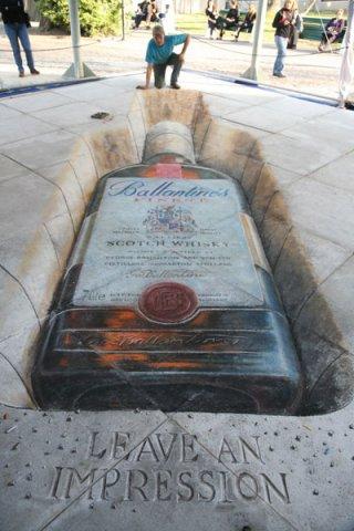 apbrīnojamā 3d māksla viskijs