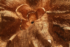 interesantas formas koka skulptūra