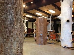 mākslinieciska koka skulptūra