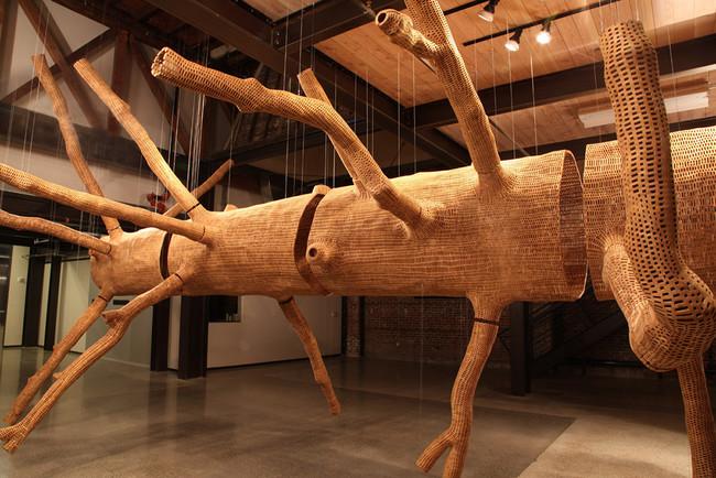 skulptūra izveidota no koka