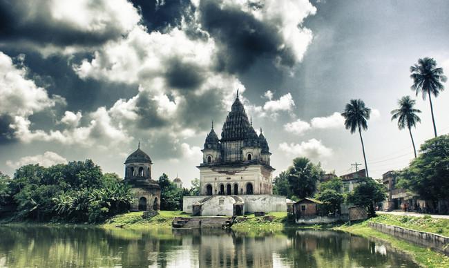 """""""Puthia"""" kompleksais templis, Bangladeša"""