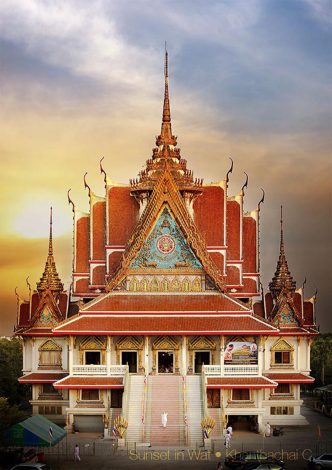 """""""Wat Asokaram"""", Samut Prakan, Taizeme"""