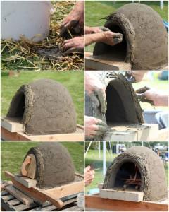 no dubļiem izveidot picas ceptuvi