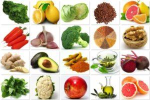 ēdieni ķermeņa attīrīšanai